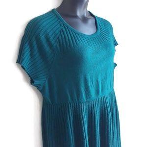 Lane Bryant Green Knit Dress Size 18/20